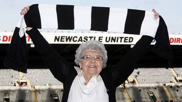 Newcastle United tea lady Kath Cassidy dies aged 90