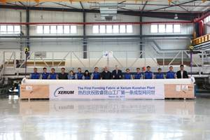 xerium ships first forming fabric from its kunshan, china, plant