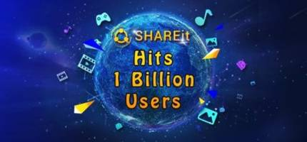 Problem Shooting and Content Sharing, SHAREit's Global Users Surpass One Billion