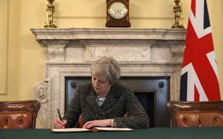 brexit begins: theresa may has now signed the article 50 letter