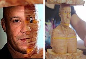 making a laser cut vin diesel ham and cheese sandwich for lunch