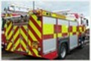 firefighters battle blaze involving two tonnes of straw in little...