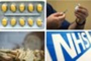 nhs  to stop funding travel jabs, gluten free foods and erectile...