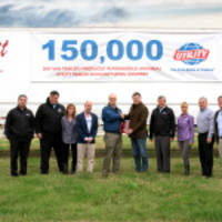 Utility Trailer Manufacturing Builds Its 150,000th Dry Van in Paragould, Arkansas