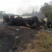 Four people burnt to death in petrol tanker accident