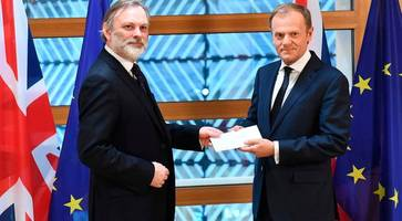 brexit begins: theresa may article 50 letter to eu president donald tusk [full document]