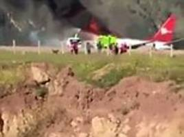 Peruvian Airlines plane bursts into flames midair in crash