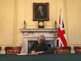 Theresa May signs Brexit letter to trigger Article 50