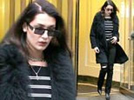 bella hadid looks sophisticated as she steps out in nyc