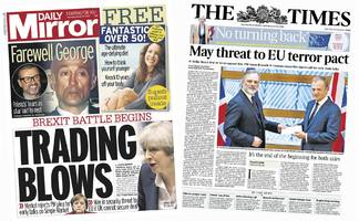 the papers: goodbyes bade to eu and george michael