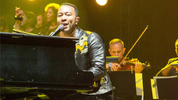 John Legend Surprised Commuters at a Train Station With a Concert
