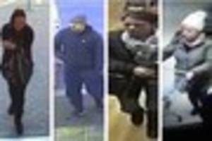 So, who are they? CCTV released after incidents at Waitrose, HMV...