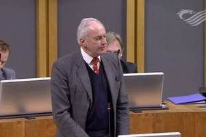 Neil Hamilton made a 'suicide' jibe during a plenary debate on Brexit and was forced to apologise