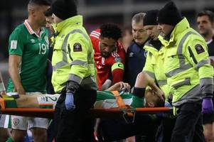 ashley williams reveals neil taylor wanted to visit everton pal seamus coleman in hospital after red card challenge