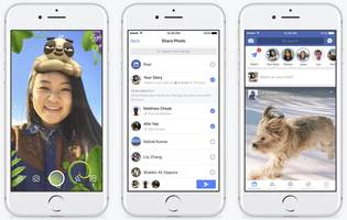 facebook launches snapchat-style stories with new in-app camera feature