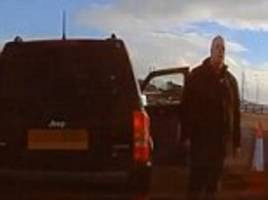 road rage driver stopped vehicle in high-speed traffic