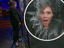 victoria beckham has fruit fired at her by james corden