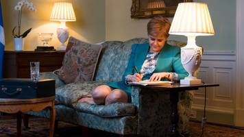 sturgeon signs independence vote request