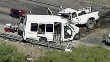 13 killed after bus, truck collide in Texas