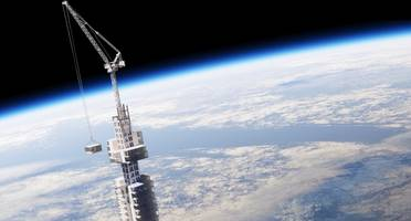 in the future, you may live in this building hanging from an asteroid
