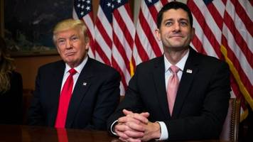 president trump and paul ryan press republicans for lack of support
