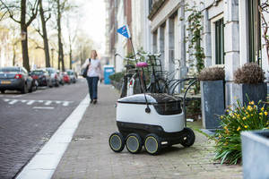 domino's delivers pizza in europe with wheeled drones