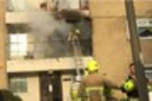 harlow flat fire sparked by dropped cigarette