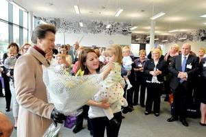 HRH The Princess Royal visits the £23m Houldsworth Centre in Wishaw