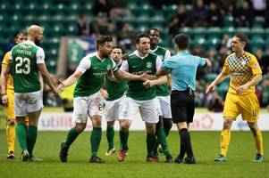 Hibs confirm appeal over Darren McGregor red card as Neil Lennon and Jim Duffy wait to hear if they'll face disciplinary action