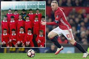 manchester united hero wayne rooney takes a trip down memory lane with throwback team photo