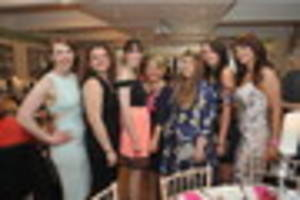 pictures as women dress to impress for beverley rufc's ladies day...