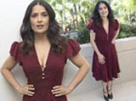 salma hayek promotes how to be a latin lover in california