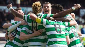 highlights: celtic hammer hearts to win title
