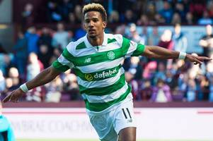 celtic hero scott sinclair left behind by team bus after netting treble to clinch title