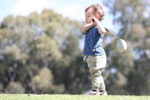 watch as two-year-old golf prodigy shows off a swing most adults would envy