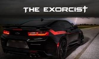 1,000 hp chevrolet camaro zl1 exorcist is hennessey trolling the dodge demon