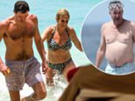 jeremy clarkson's ex wife holidays with man in barbados