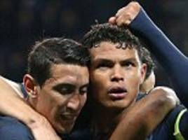 psg news: silva and di maria ruled out of quarter-final