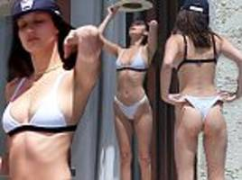bella hadid struts around in bikini in mexico