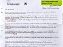 pensioner appalled to receive gibberish british gas letter