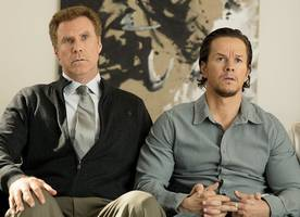 mark wahlberg, will ferrell and mel gibson are seen filming 'daddy's home 2'