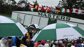 masters par 3 event abandoned for first time in history due to bad weather