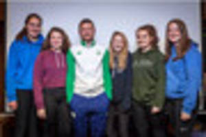 youngsters given special hockey training tips by olympic athlete...