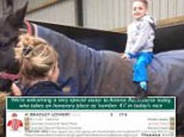 bradley lowery given 41st place on grand national racecard