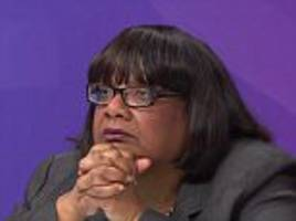 question time audience member demands diane abbott apology