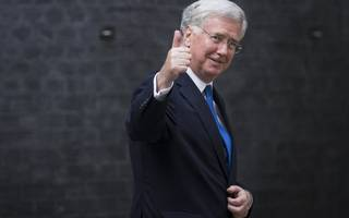 "sir michael fallon says the uk ""fully supports"" the us airstrike on syria"