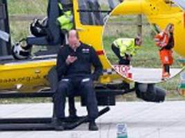 prince william pictured back on duty