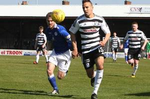 ayr united sink to rock bottom after home defeat by queen of the south