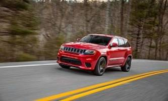 jeep says grand cherokee trackhawk is world's quickest suv, not tesla' model x