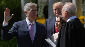 trump celebrates supreme court justice neil gorsuch's swearing in